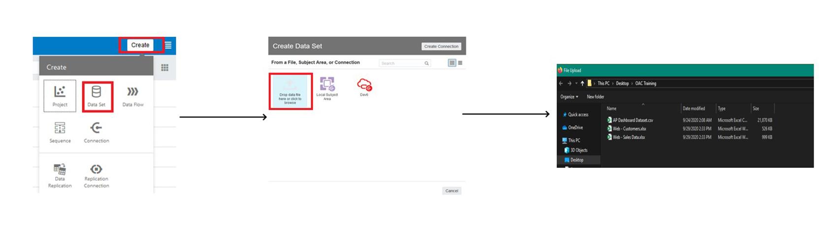 Oracle Cloud Analytics step 1