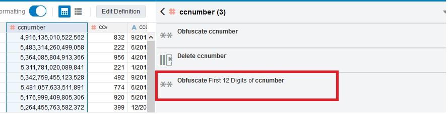 Conceal Sensitive Customer Data